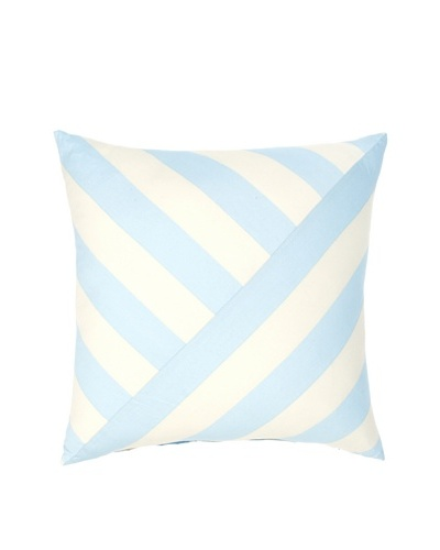 Image by Charlie Azure Decorative Pillow, Aqua/Off-White, 20 x 20