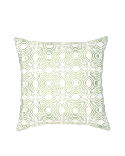 "Image By Charlie Dynasty Decorative Pillow, White/Seamist Green, 18"" x 18"""