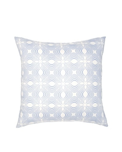 Image by Charlie Dynasty Decorative Pillow, Dream Blue/Off-White, 20 x 20