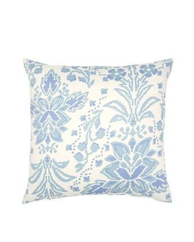 Image by Charlie Azure Decorative Pillow, White/Multi Blues, 20 x 20