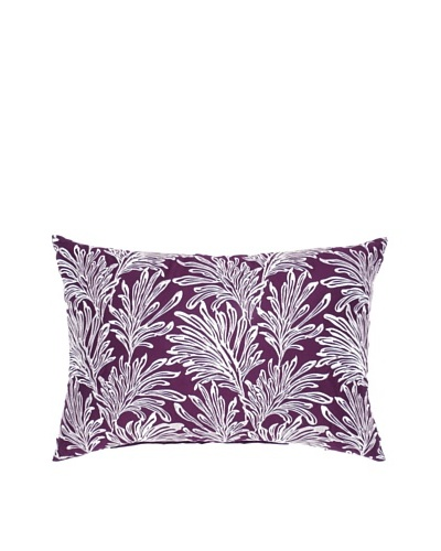 Image by Charlie Summertime Decorative Pillow, Purple/White, 12 x 20