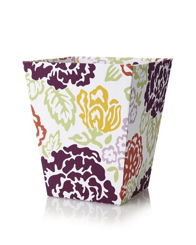 Image By Charlie Cotton Sateen Summertime Wastepaper Basket, Floral, Multicolor