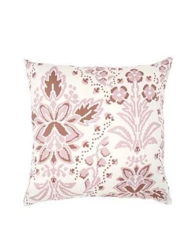 "Image by Charlie Taupe Decorative Pillow, Peachskin/Off-White, 20"" x 20"""