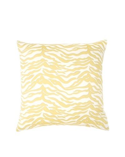 Image by Charlie Kenya Zebra Decorative Pillow, Spectra Yellow/Off-White, 20 x 20