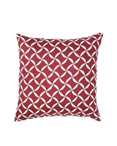 Image by Charlie Taylor Decorative Pillow, Cherry Red/White, 20 x 20