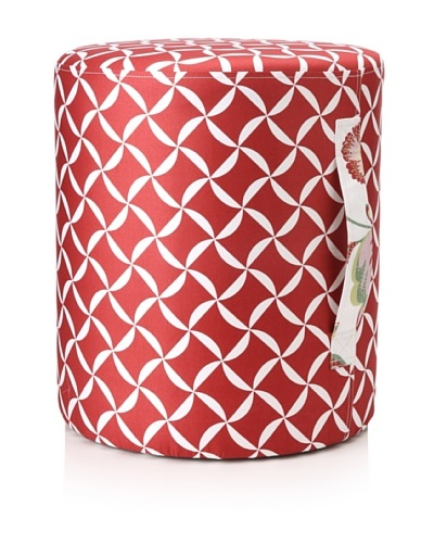 Image by Charlie Taylor Ottoman, Cherry Red/White