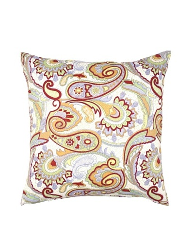 Image by Charlie Dynasty Decorative Pillow, White/Multi, 20 x 20