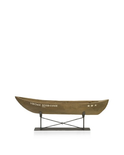 River Canoe on Metal Stand