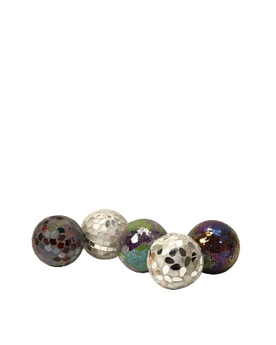 Set of 5 Abbot Mosaic Deco Balls
