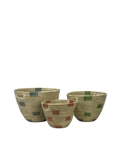 Set of 3 Dunn Sea Grass Catch-All Baskets