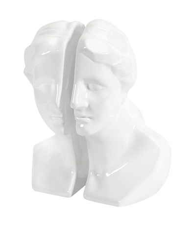 White Greek Lady Bookends