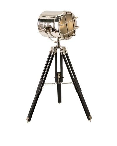 Kaden Spot Table Lamp, Silver/Dark Walnut