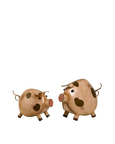 Set of 2 Peter and Polly Pig Décor
