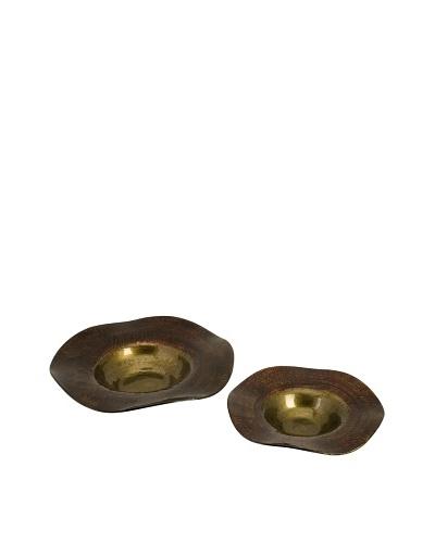 Set of 2 Joelle Wavy Edge Glass Bowls