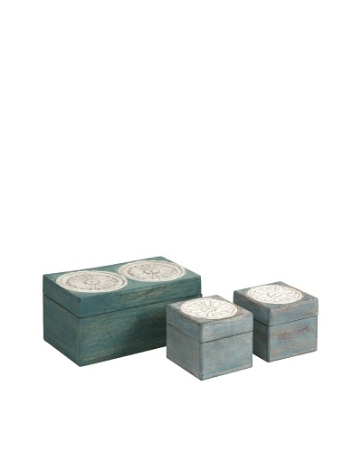 Set of 3 Haani Carved Boxes