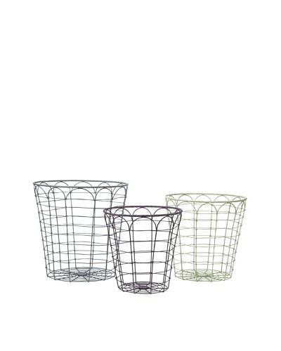 Set of 3 Assorted Connor Metal Baskets
