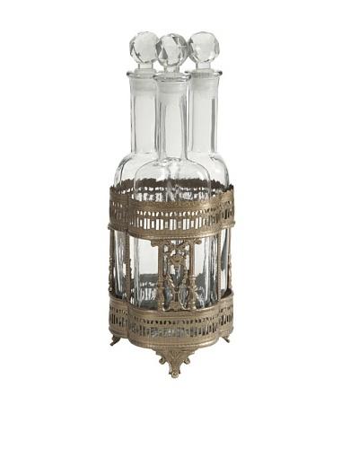 Pearson Bottles In Brass Tray