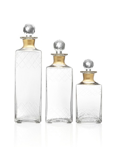 Imax Hampshire Etched Decanters- Set of 3