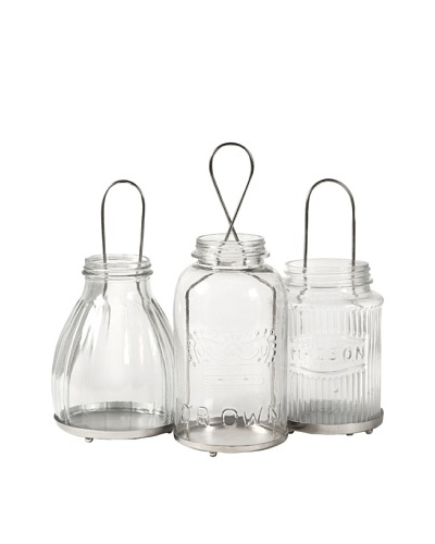 Set of 3 Spangler Jar Lanterns