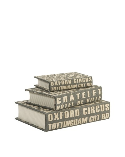 Set of 3 Central Line Book Boxes