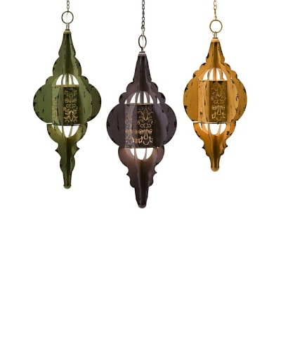 Set of 3 Georgette Hanging Lamps