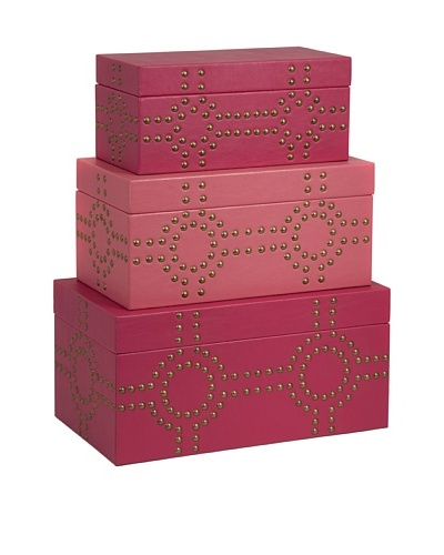Set of 3 Julia Studded Boxes