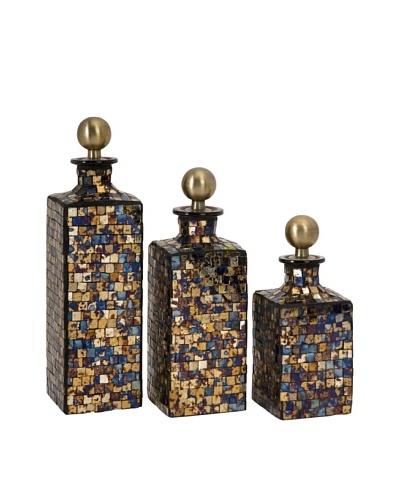 Set of 3 Moulin Mosaic Bottles