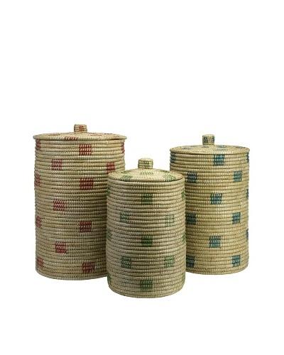 Set of 3 Afton Sea Grass Storage Baskets