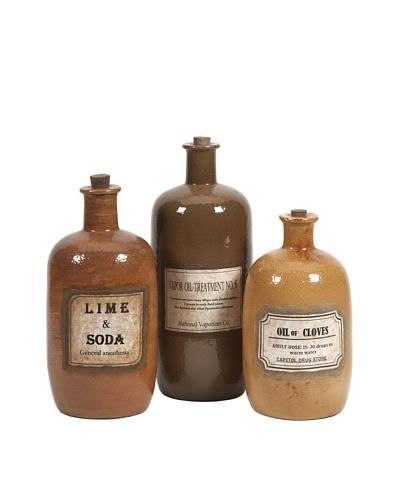Set of 3 Easton Decorative Medicine Bottles