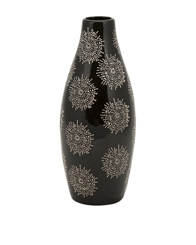 Essentials Small Starburst Vase, Black