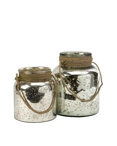 Set of 2 Bretton Jars with Jute Handles