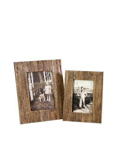 Set of 2 Havana Photo Frames, 4 x 6/5 x 7
