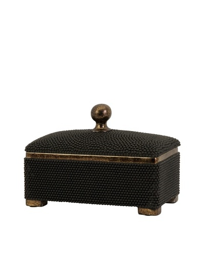 Imax Carolyn Kinder Caviar Box, Black/Gold