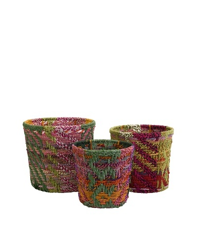 Set of 3 Assorted Handsel Rag Baskets