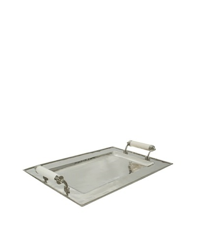The Import Collection Julia Rectangular Polished Metal Serving Tray