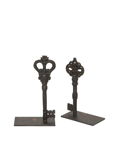 The Import Collection Pair of Metal Key Bookends
