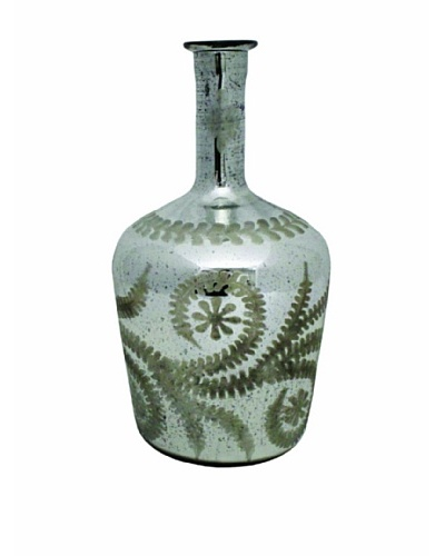 The Import Collection Georgia Glass Vase, Silver