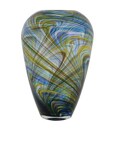 The Import Collection Splace II Glass Vase, Blue