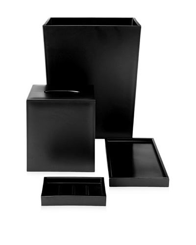 Impulse Seville 4-Piece Bath Set, Black
