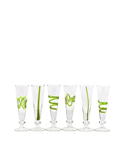 Impulse! Set of 6 Crazy Cordial Glasses