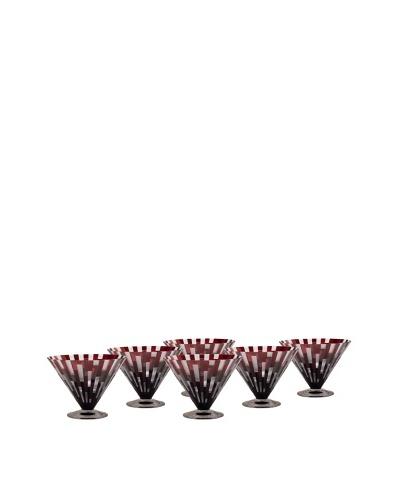 Impulse! Set of 6 Urban Martini Glasses, Red