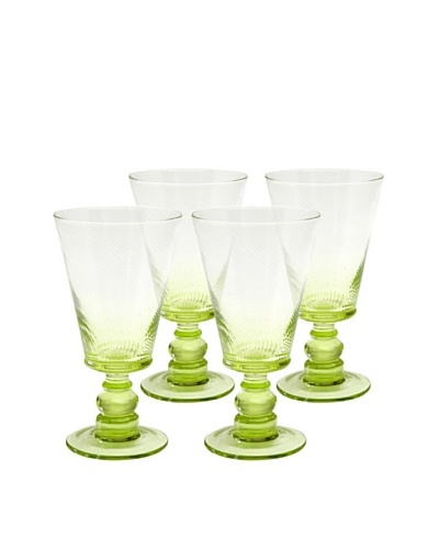 Roma Goblet, Green, Set of 4