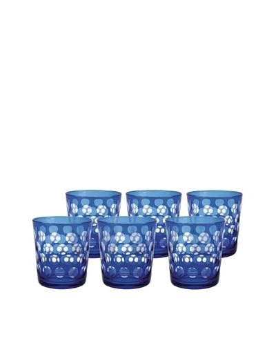 Melrose Rock Glass, Blue, Set of 6