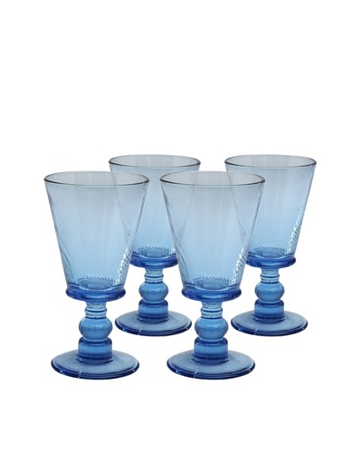 Roma Goblet, Aqua, Set of 4