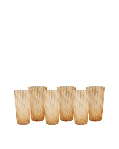 Impulse! Set of 6 Urban Water Glasses, Orange