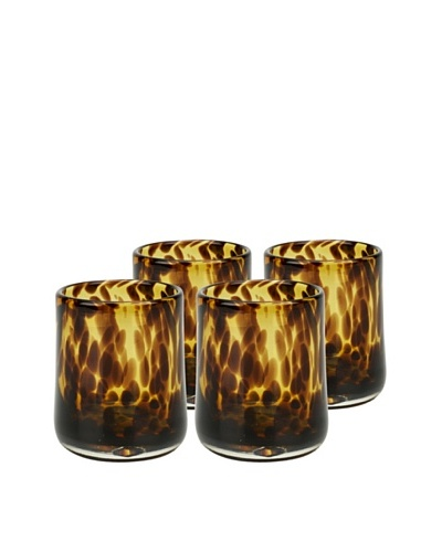 Impulse! Set of 4 Tortoise Rocks Glasses