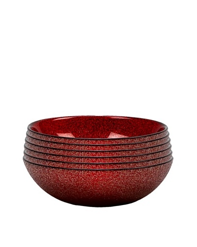 Paparazzi Bowl, Red, Set of 6