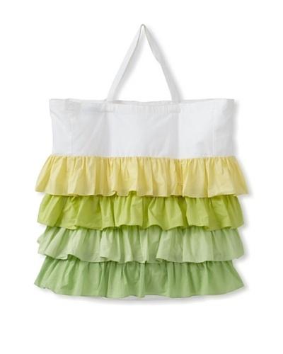 India Rose Grasshopper Laundry Bag, Green/White, 24 x 30