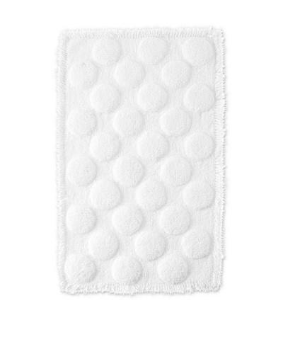 India Rose Amara Bath Mat, White, 21 x 35