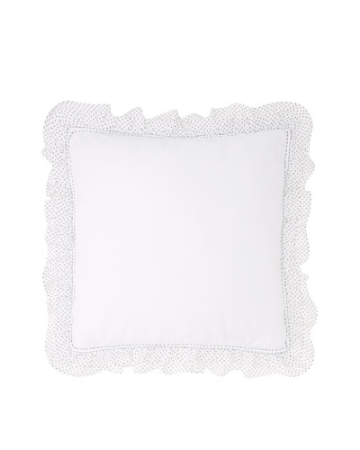 India Rose Susie Euro Sham, White, 26 x 26